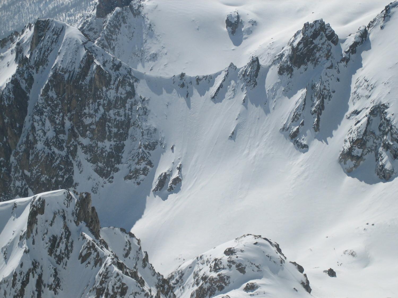 Traversée Chardonnet >> Drayères : Pas du Lac Rouge (3e col) versant NW