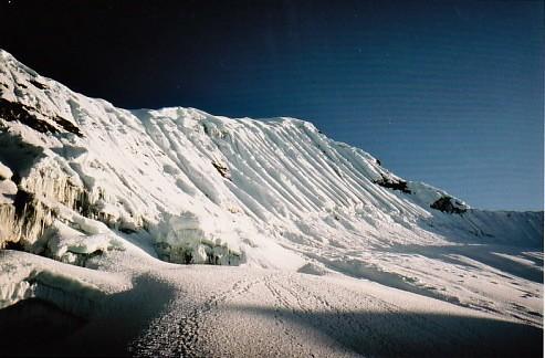 Imja Tse 6189 m, le passage clé en 1980
