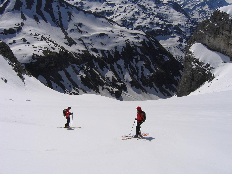Le glacier des Fonds sous le col du Ruan