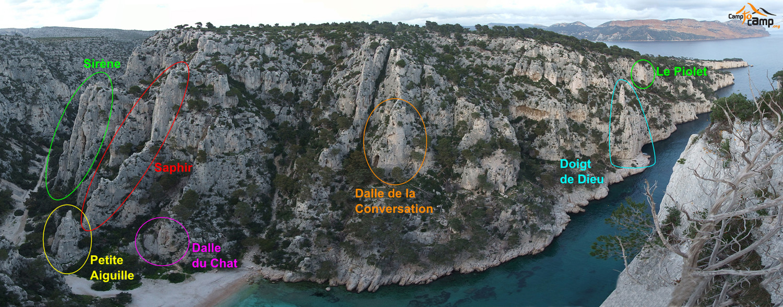 Sites d'escalade d'En-Vau, versant gauche