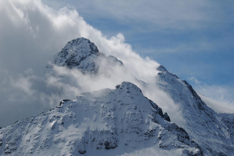 Massif du Sustenhorn, le temps se dégrade vers midi.