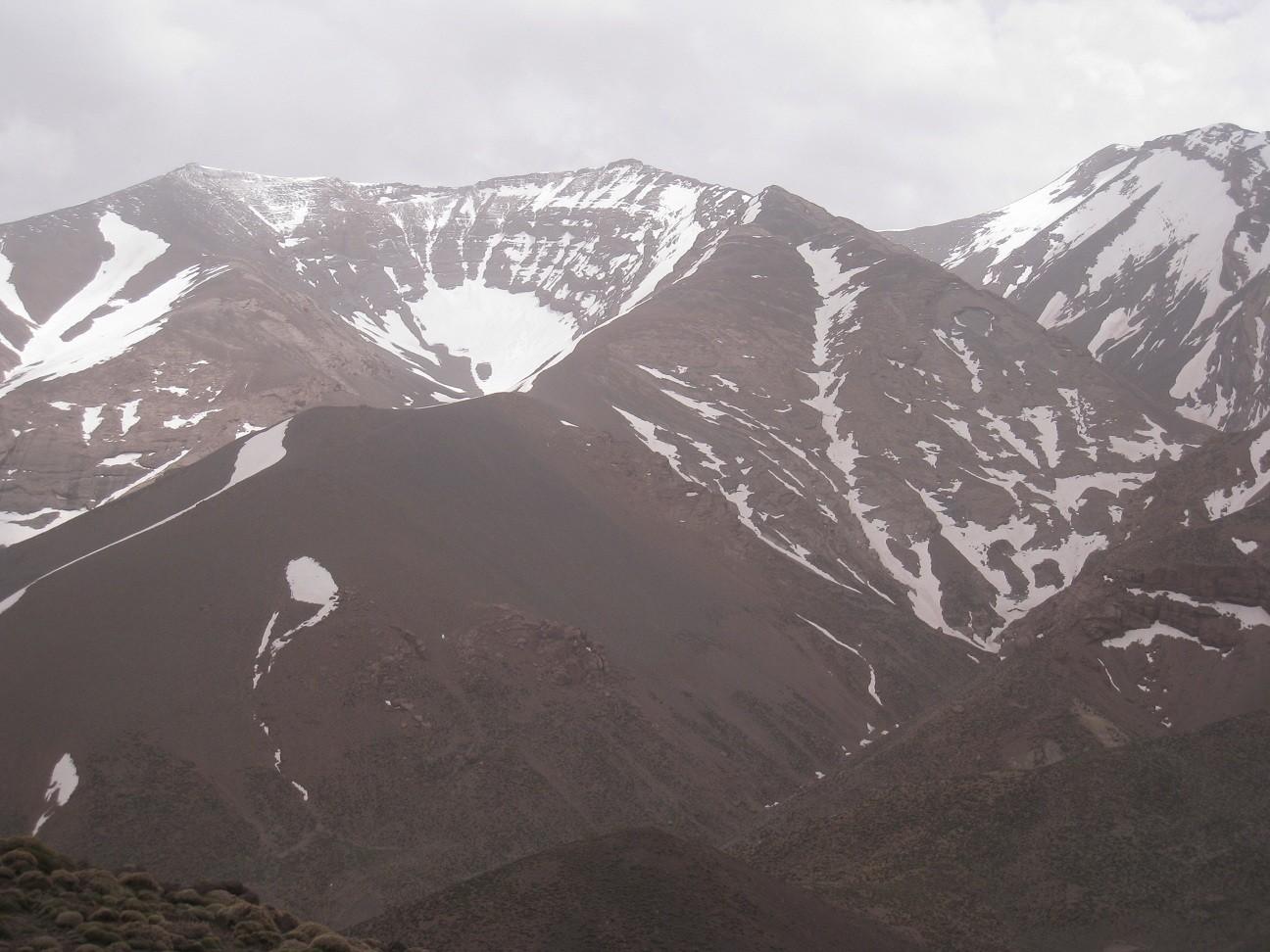 Djebel M'Goun -vue depuis Oumsoud Pass (2969m)