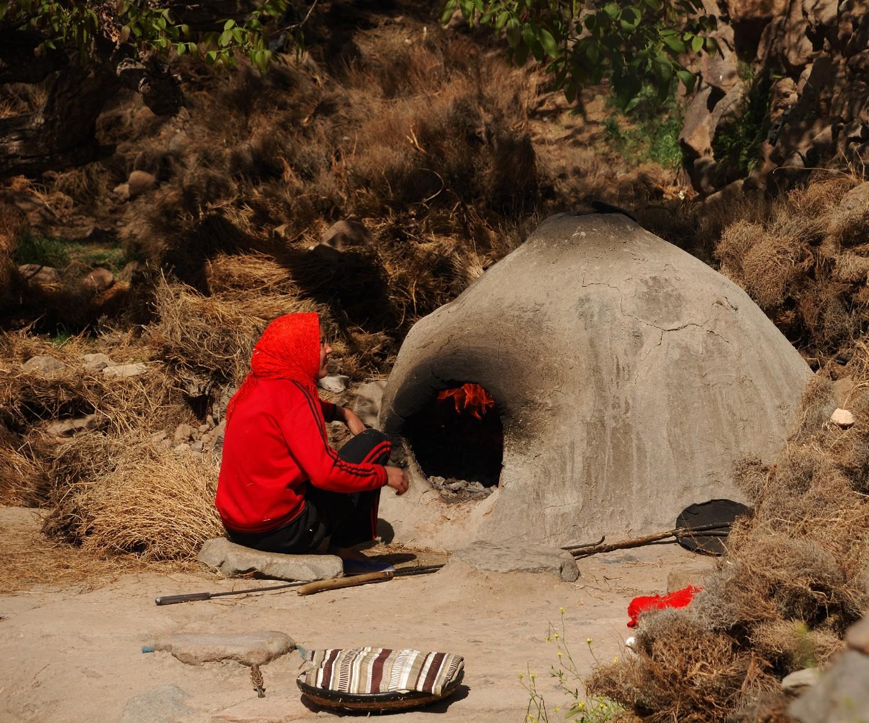 Fabrication du pain, Djebel Sirouah