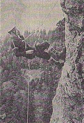 Années 1960, démonstration des Choucas dans le Pilier pour la Presse