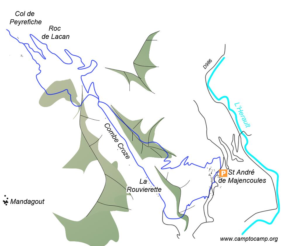 Itinéraire Col de Peyrefiche