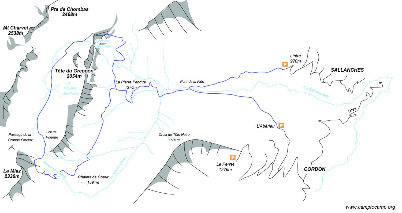 Itinéraire Gouille des Fours