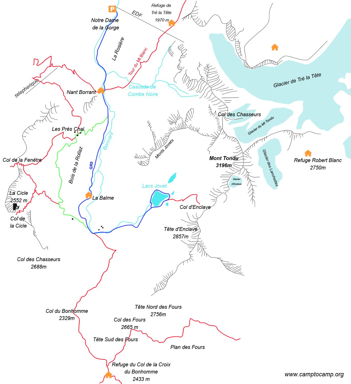 Itinéraire Lacs Jovet