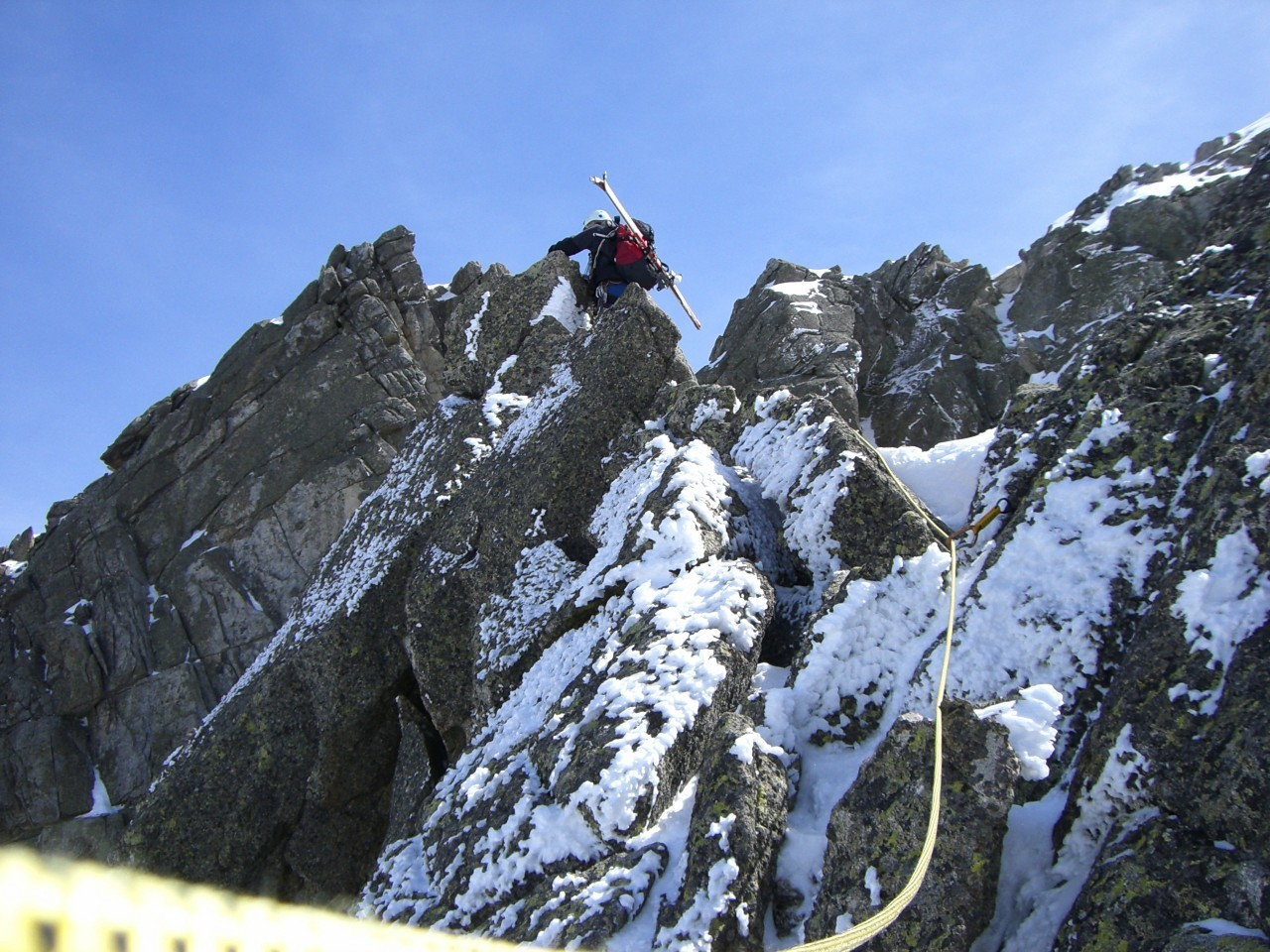 Inici de la cresta amb força verglaç.