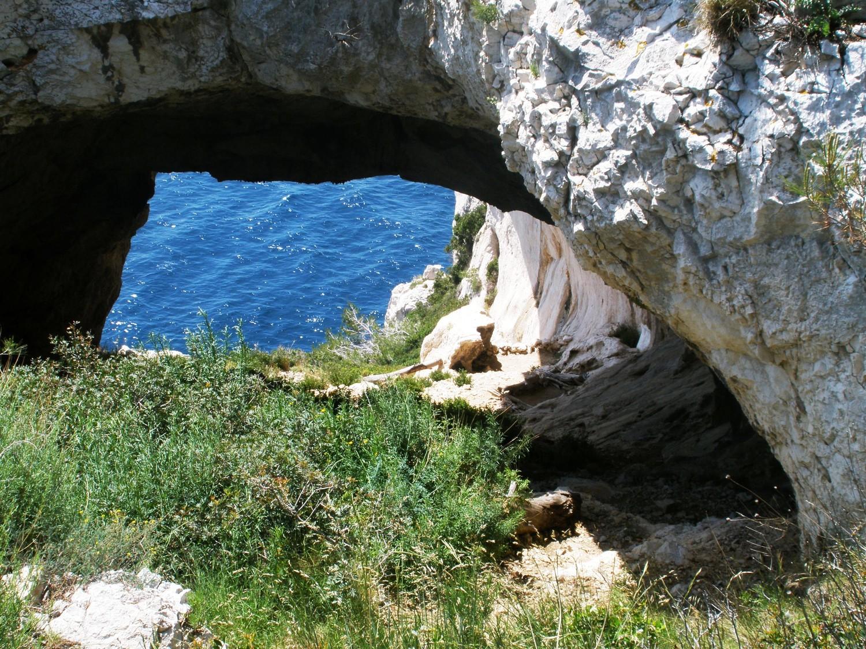 L'arche du départ de la Tabarly (le relais est un peu plus bas à gauche)