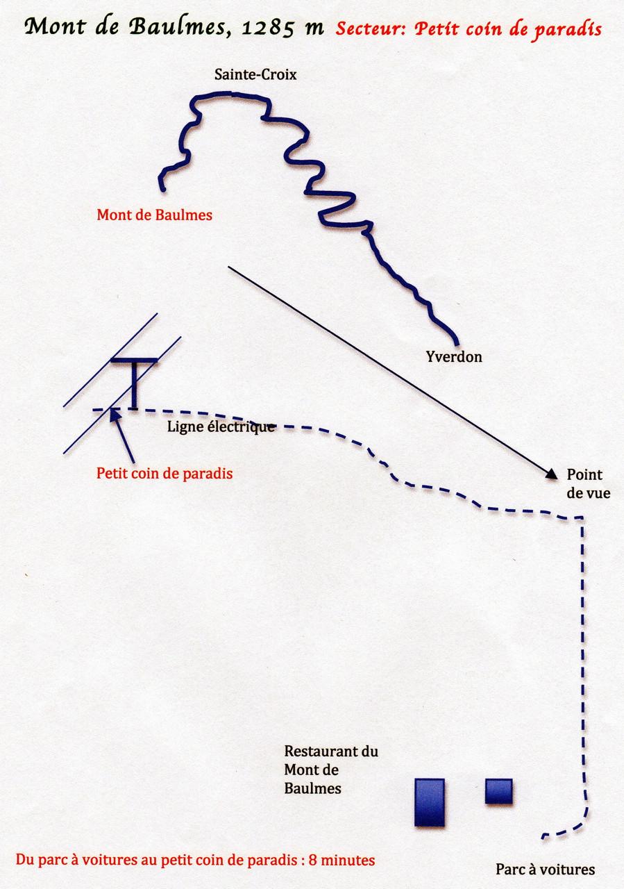 Plan d'accès au  Petit coin de paradis
