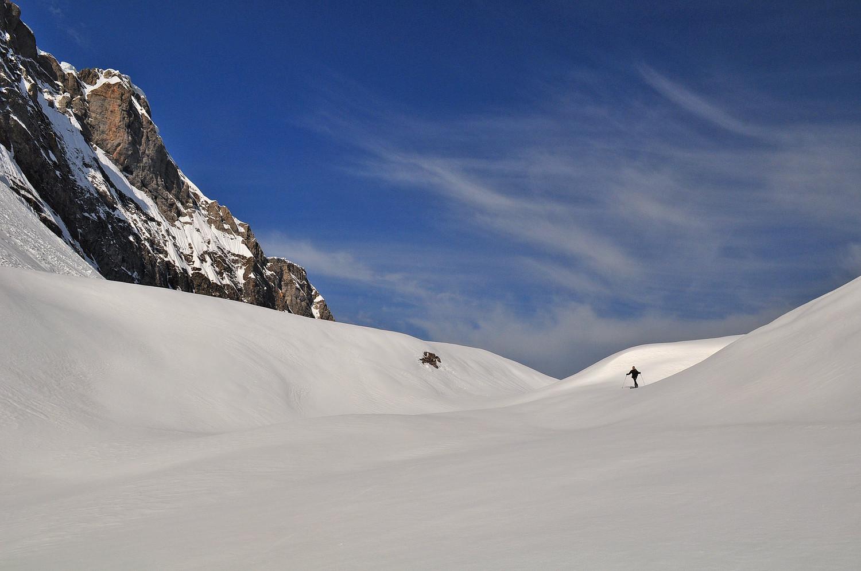 Lac des Chambres sous la neige ...
