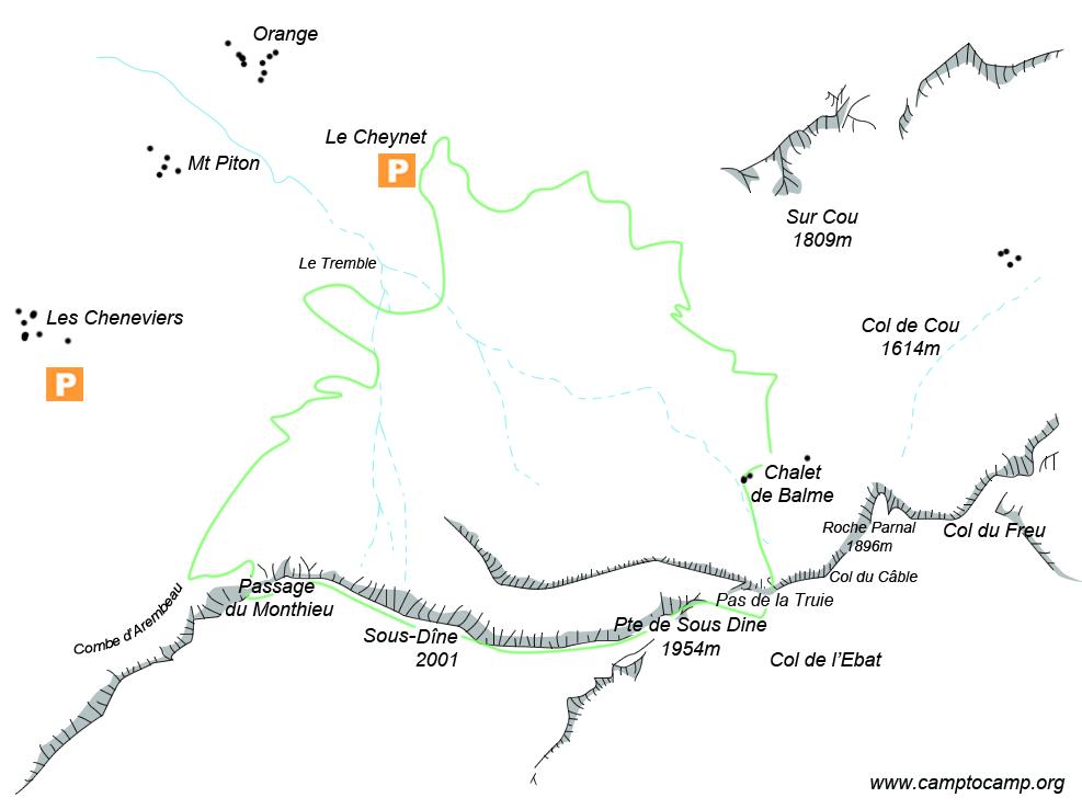 Itineraire Boucle par le Pas de la Truie