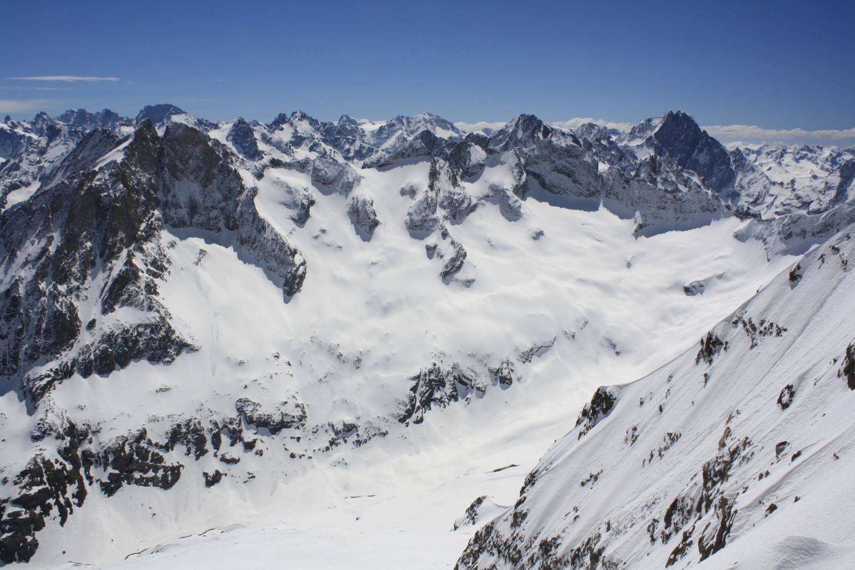 La rive droite du Haut Vallon de Lanchâtra vue du Col Jean-Martin