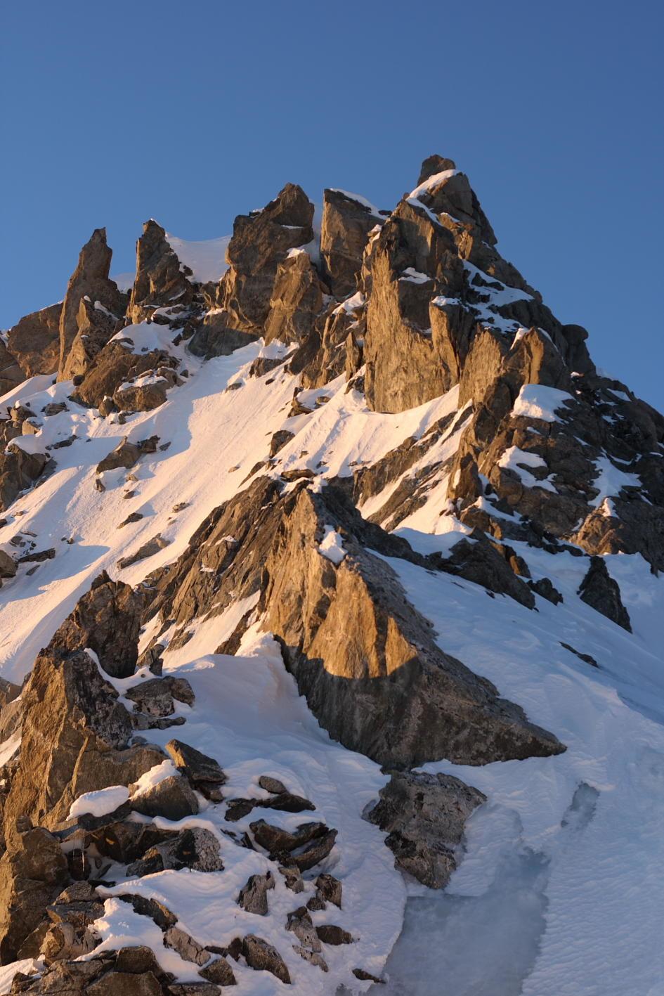 sommet du Mont Maudit par l'arête