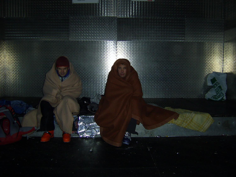 freddo importante all'interno del vallot in attesa del loca