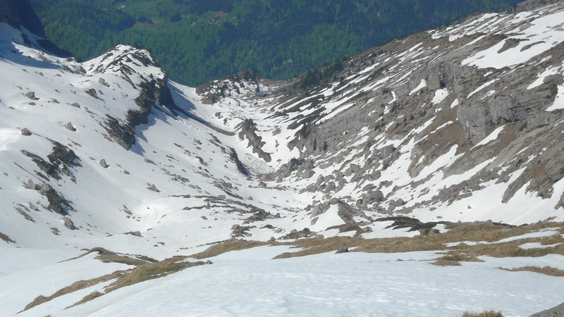 Lac des Verdets et refuge de Bostan