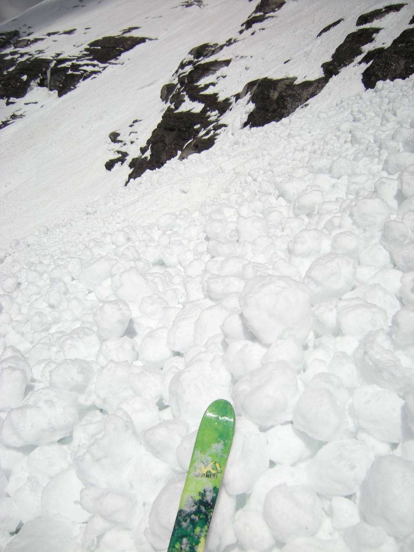 Eiger. Les bouboules, skiable?