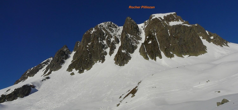Rocher Pilliozan - Versant NE
