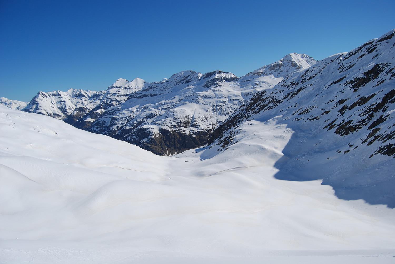 La piana a circa 2400 in Val Prasgnola.