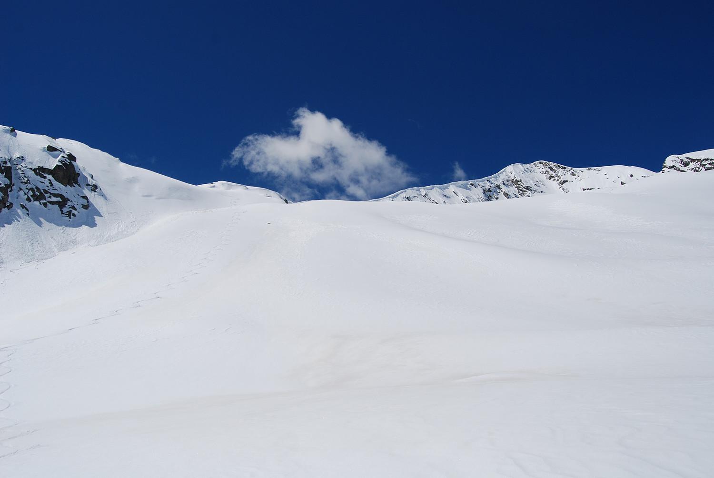 Qualche curva durante la discesa dal Pizzo Galleggione in Val Prasgnola.