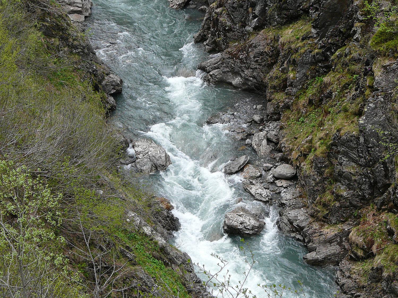 Beau débit au printemps pour la Diosaz