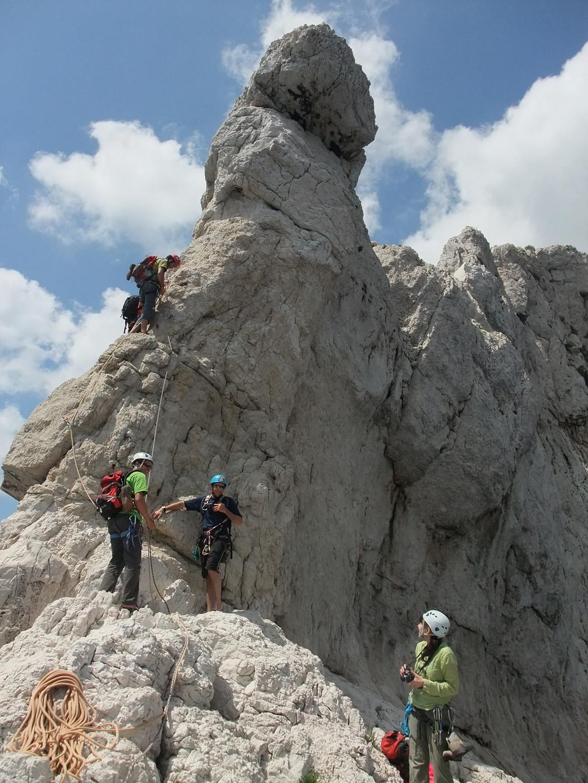 1ère longueur de grimpe