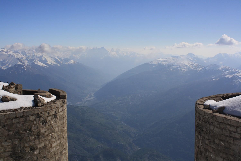 Du Mont Chaberton, vers l'E (Italie)