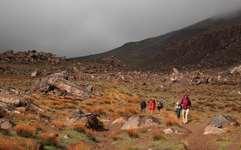 Départ des Bergerie d'Aziwan, Djebel Sirouah , Anti-Atlas