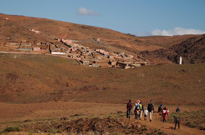 Arrivée à Tachakocht, Djebel Sirouah , Anti-Atlas