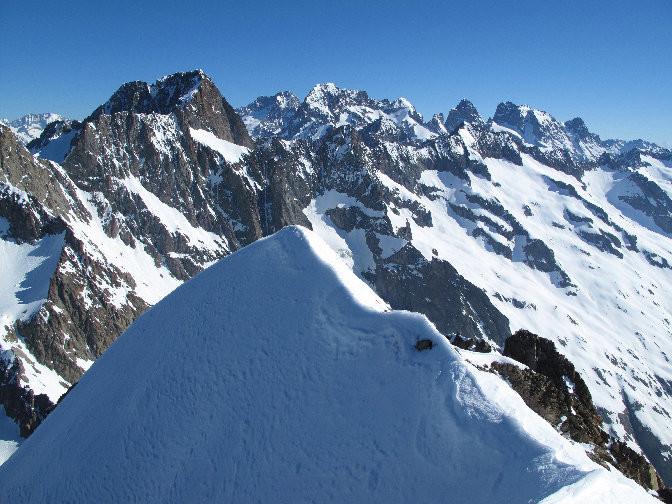 Panorama sur les hautes cimes des Ecrins