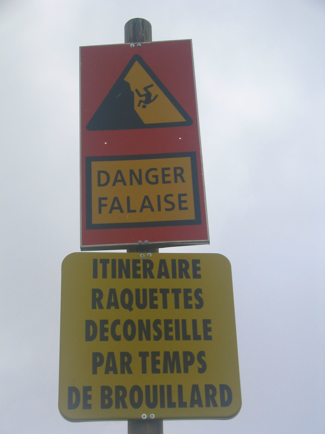 attention falaise!