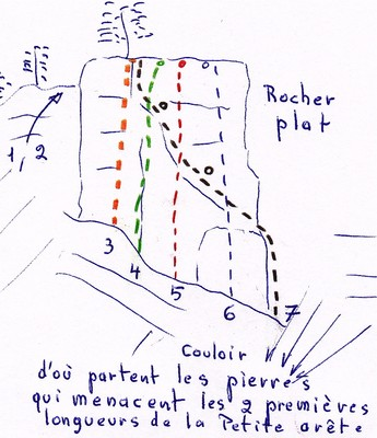 Rocher plat, topo M. Demont