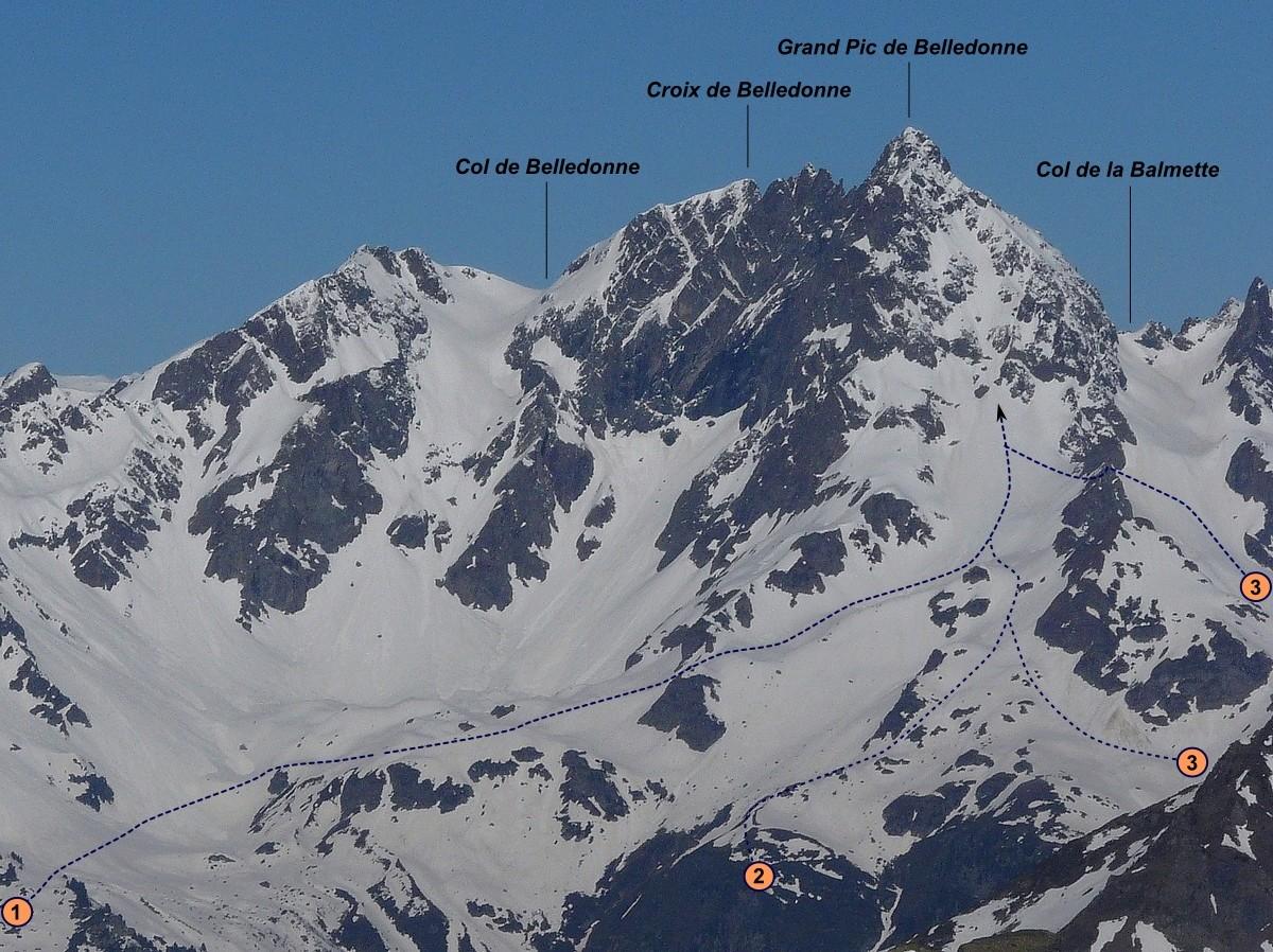 Grand Pic de Belledonne - Face E