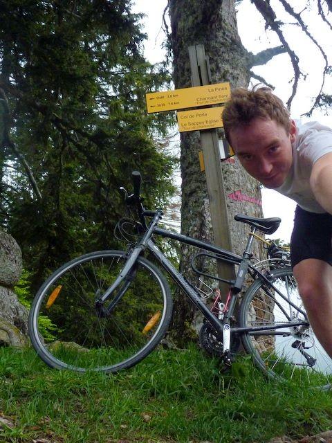 Avant la descente à vélo sur Grenoble