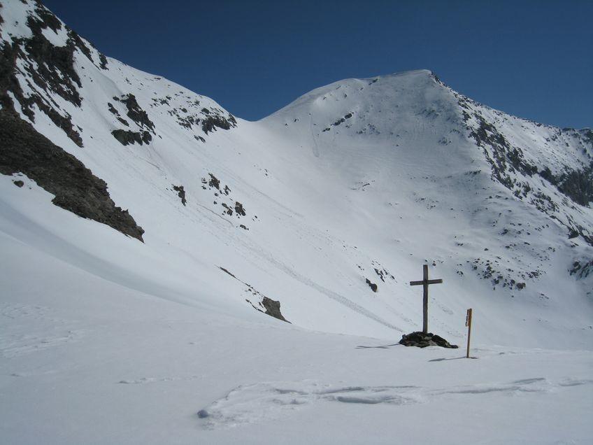 Au col de l'Autaret (3072 m), Lauses Noires