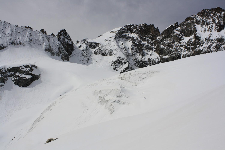 La Pointe Swan et le glacier du Vallon de Lanchâtra