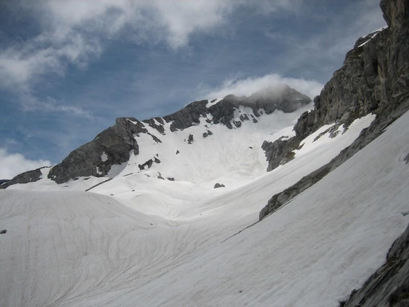 La combe empruntée en hiver en podefoc