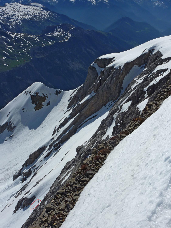 Profil de la face nord du Mont Perdu