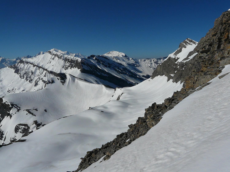 le passage pour la variante par le glacier des Rosses