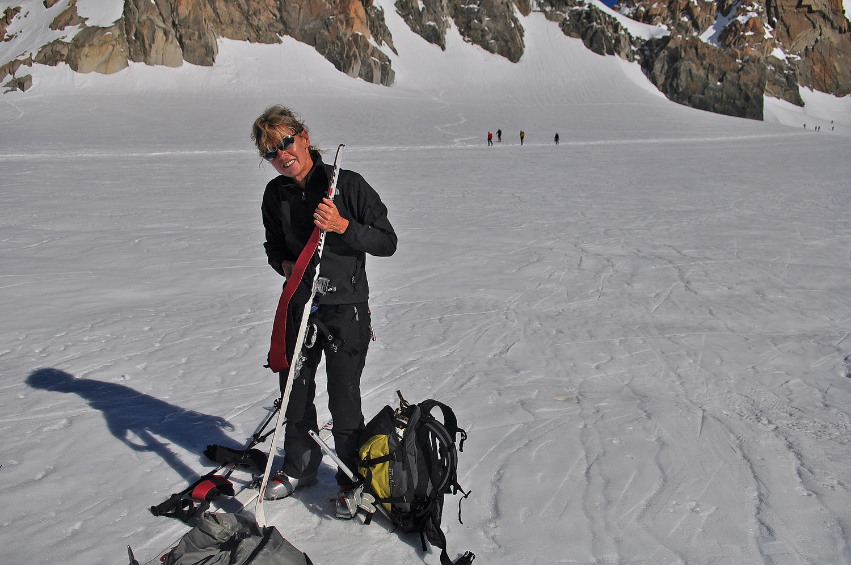 Nicole au Col du Midi