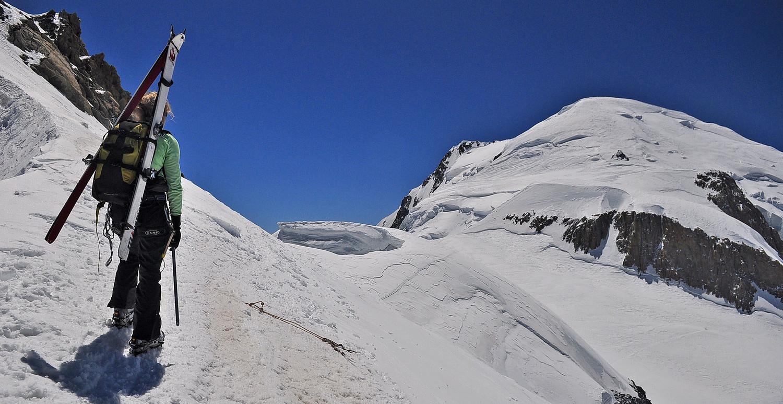 Le Mont-Blanc enfin en vue et à portée de spatules !!!