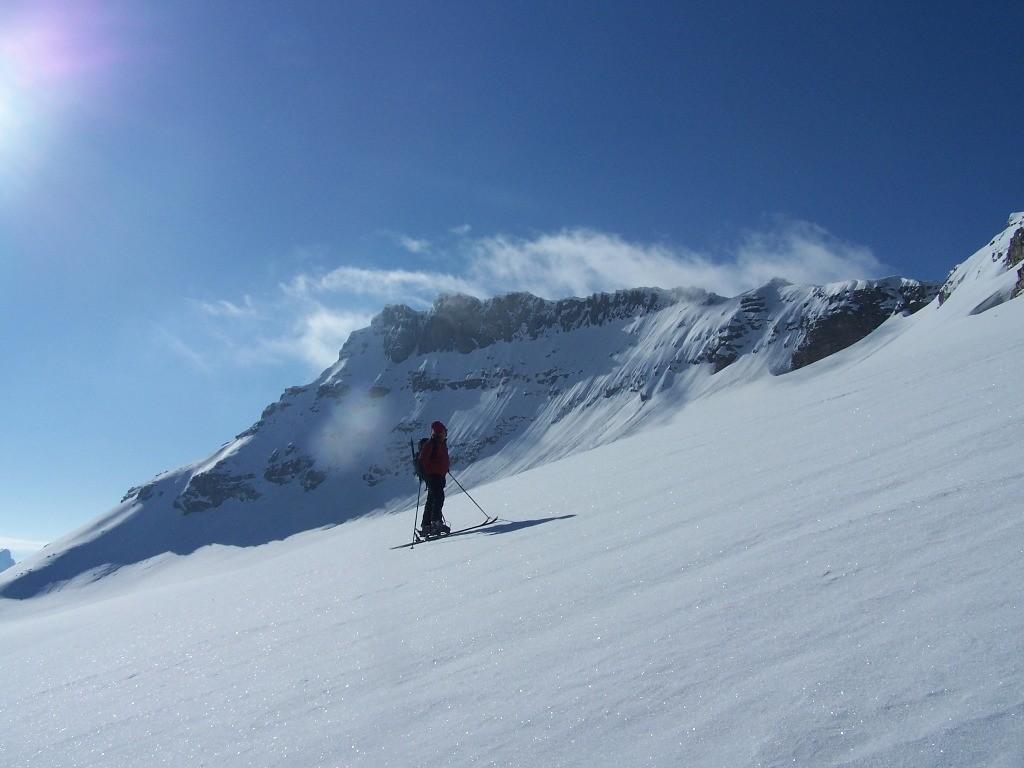 Jérôme sur le glacier de la Réchasse.