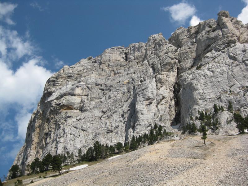 face NW du Mont Aiguille à ses pieds