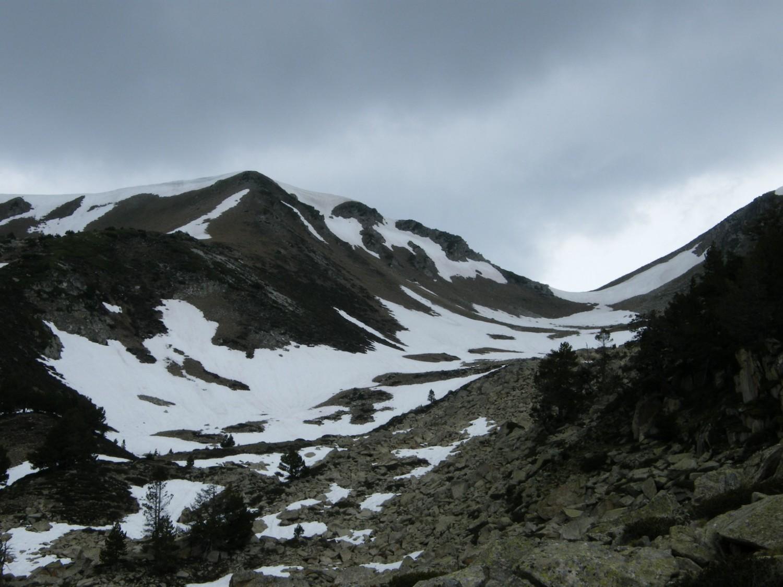 A droite le Col de Barèges