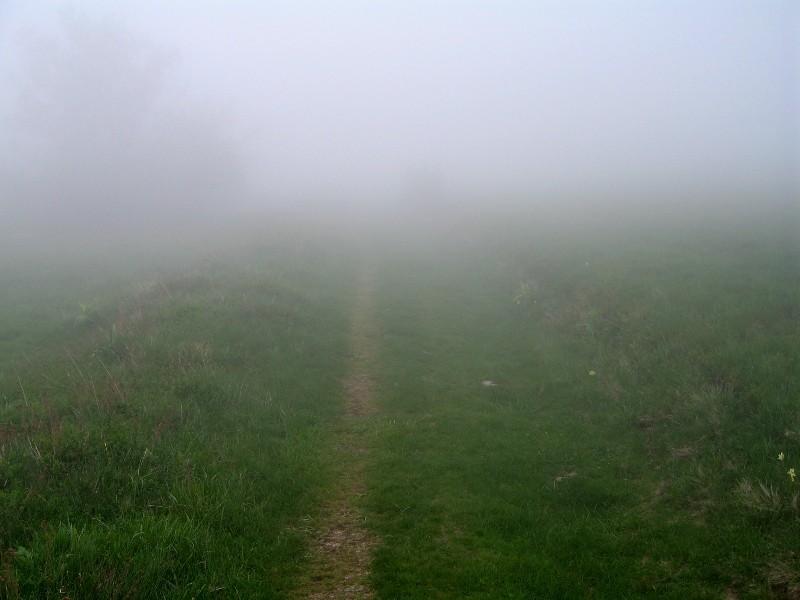Brouillard dense près du Trou Saint-Michel