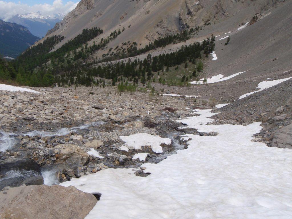 Font Sancte : Langue de neige terminale à 2300