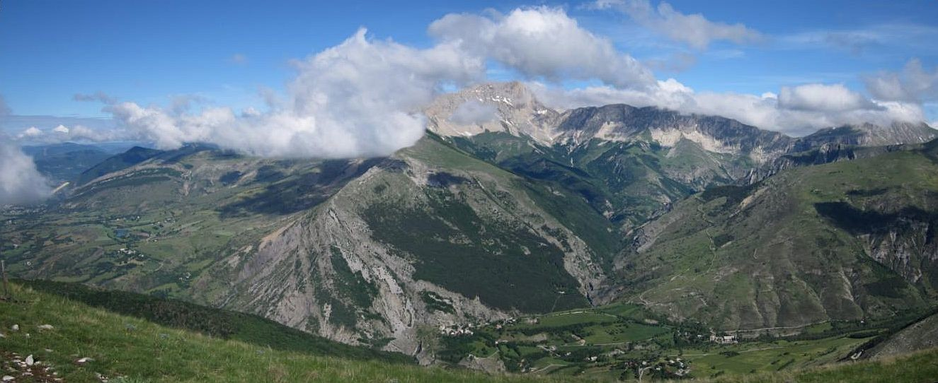Panoramique côté nord (Clappe, Bure, Chaudun)