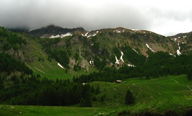 Alpage de Combeau sur fond de Col de Combeau