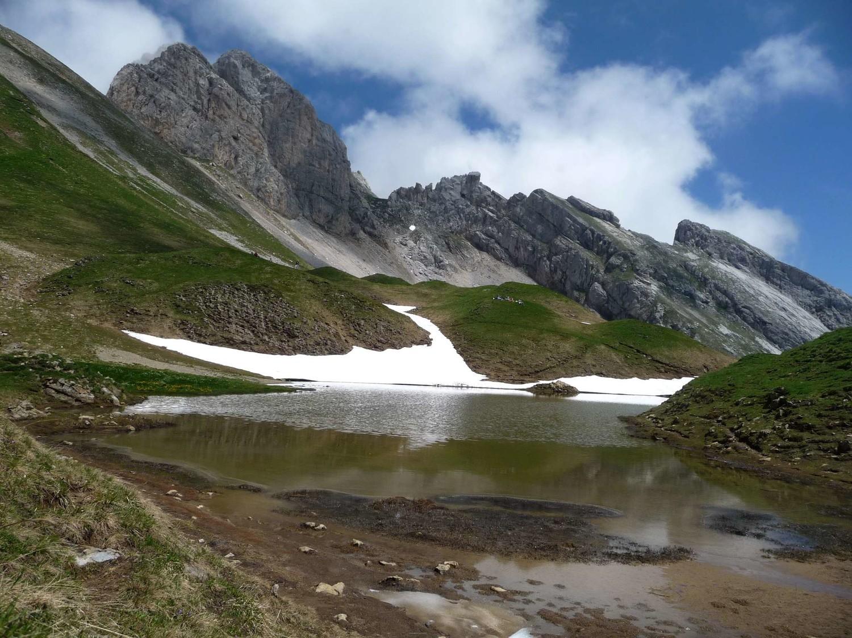 """une des """"gouilles"""" du lac de Peyre"""