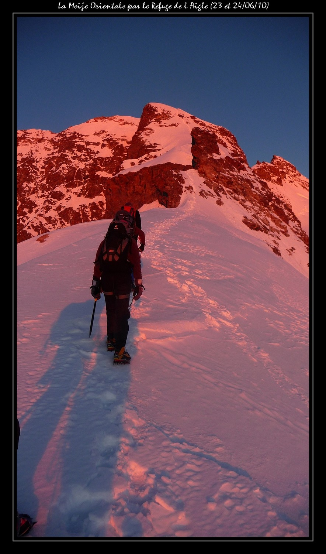Sur l'arête NE qui nous mène au sommet